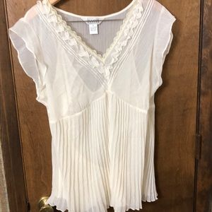 Allison Taylor Women's XL sheer top and cami